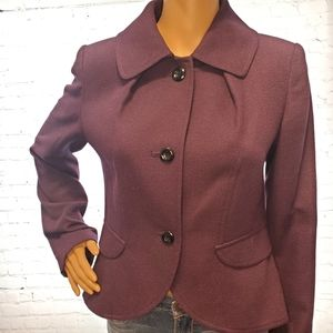 Kensie Royal Purple Blazer with Elbow Patches
